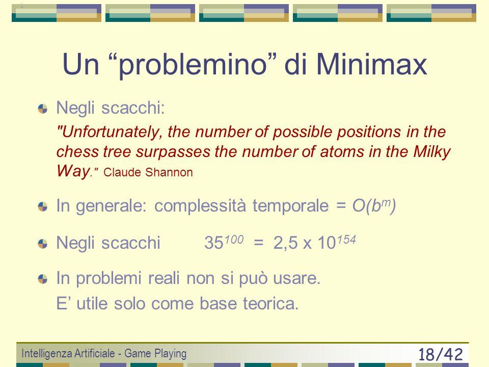 Un problemino di Minimax