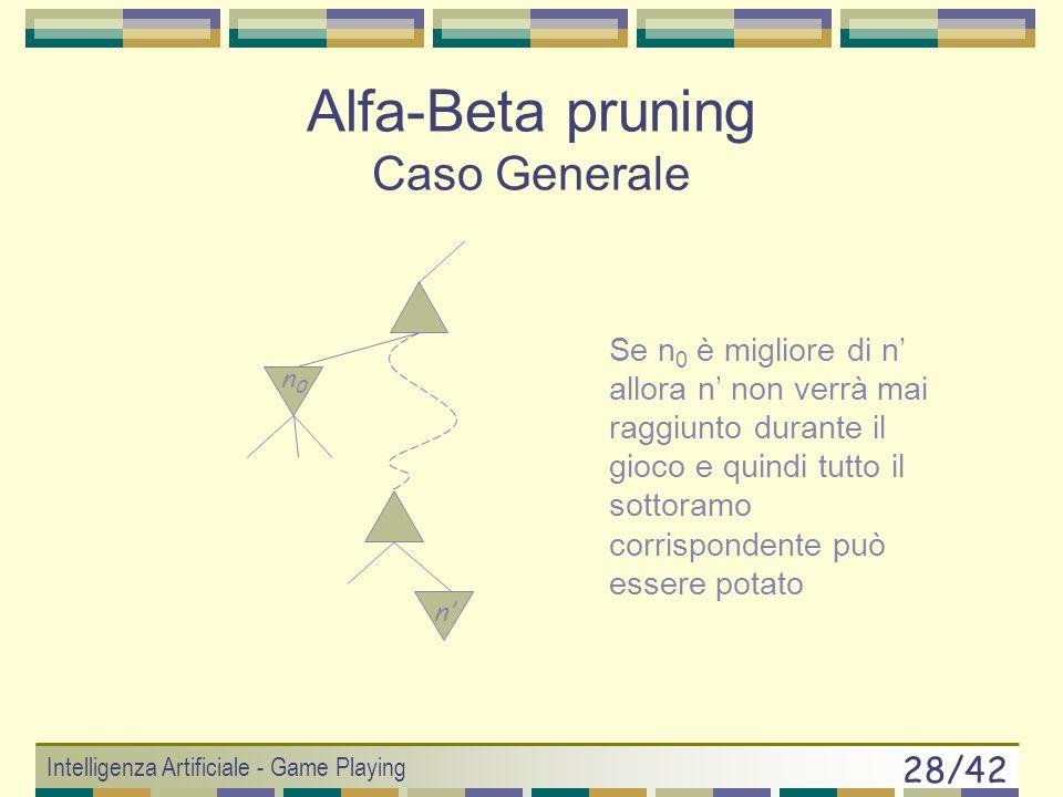 Alfa-Beta pruning Caso Generale