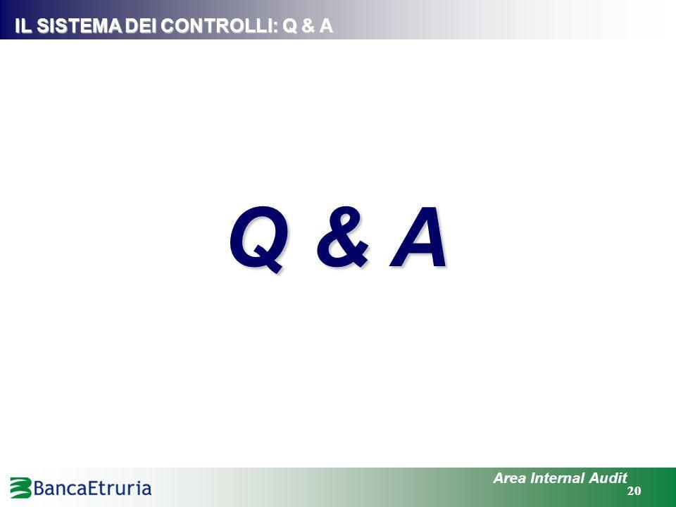 IL SISTEMA DEI CONTROLLI: Q & A