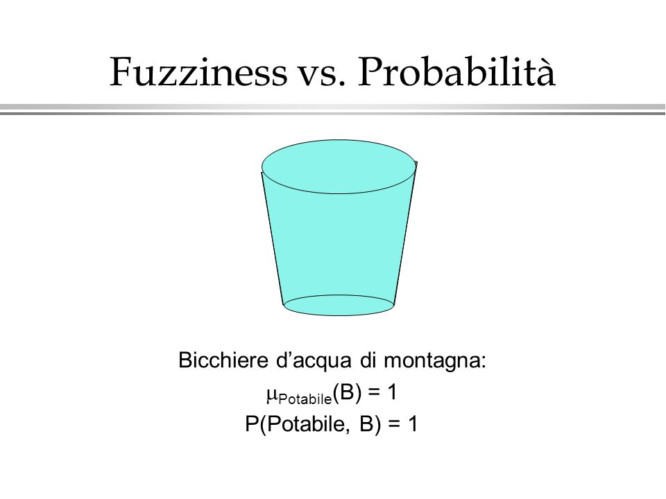 Fuzziness vs. Probabilità