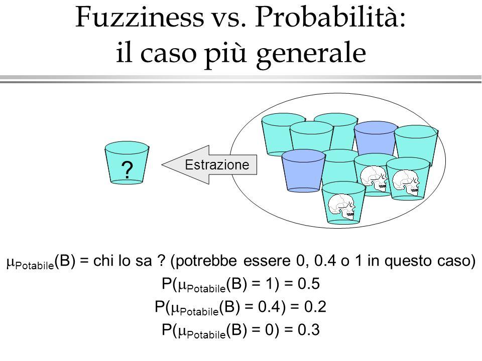 Fuzziness vs. Probabilità: il caso più generale