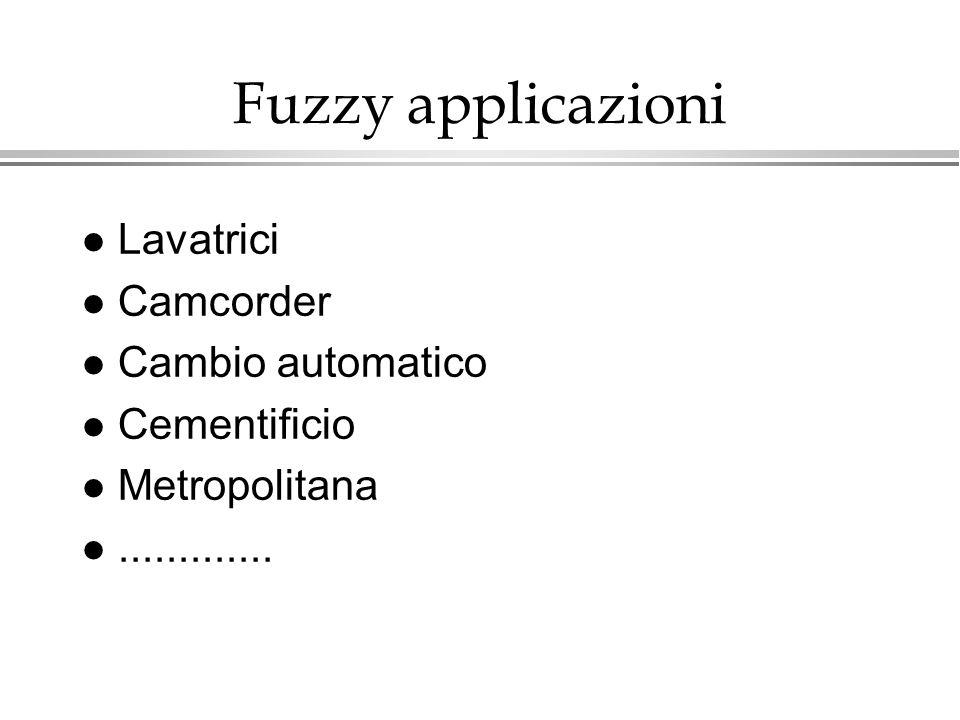 Fuzzy applicazioni Lavatrici Camcorder Cambio automatico Cementificio