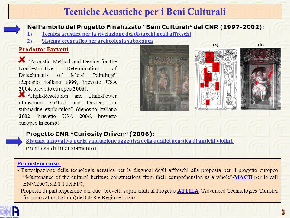 Tecniche Acustiche per i Beni Culturali