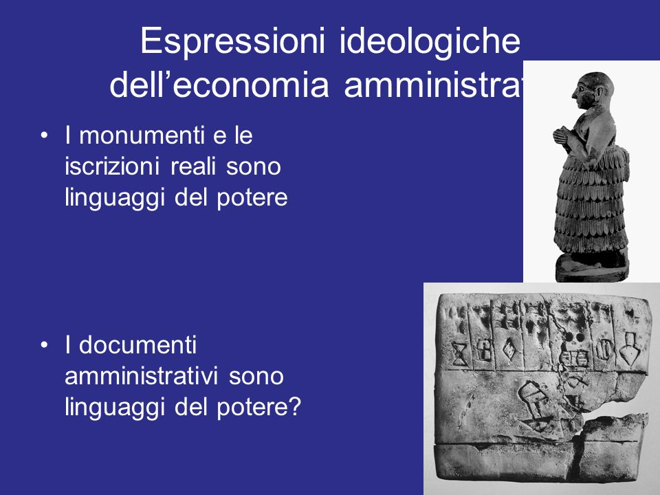 Espressioni ideologiche dell'economia amministrata