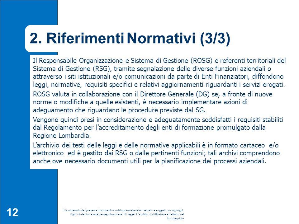 2. Riferimenti Normativi (3/3)