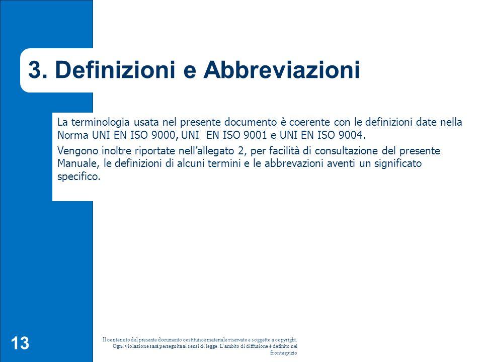3. Definizioni e Abbreviazioni