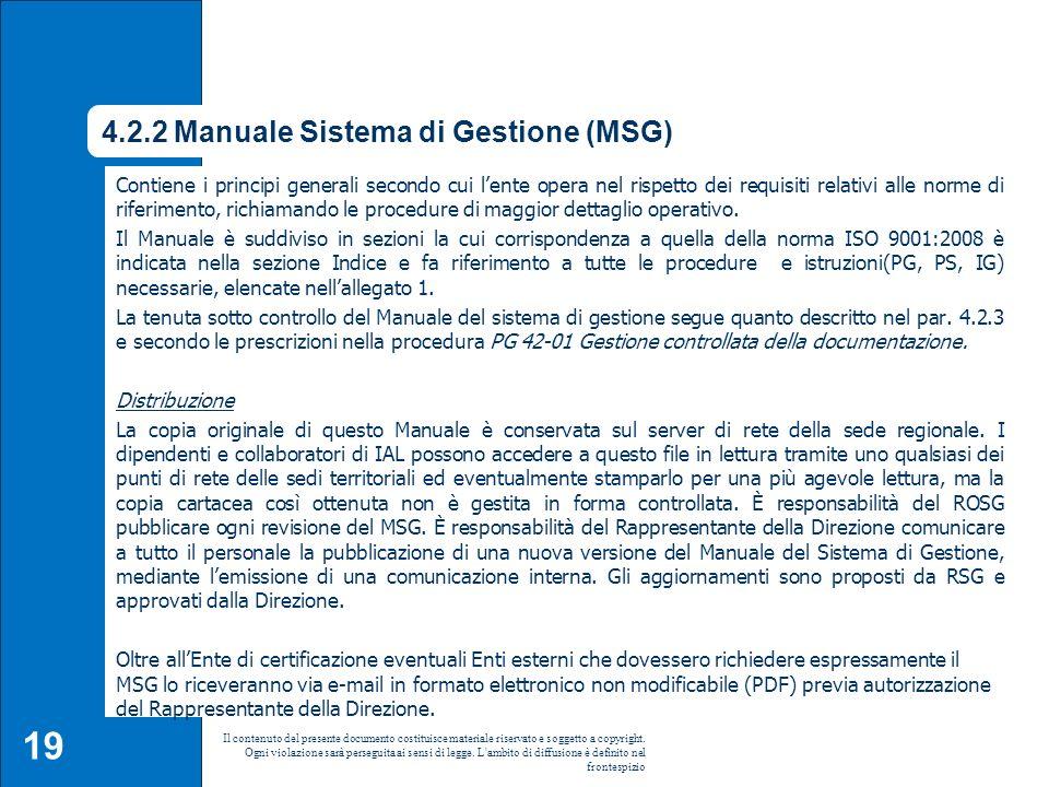 4.2.2 Manuale Sistema di Gestione (MSG)