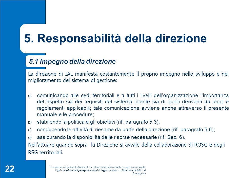 5. Responsabilità della direzione