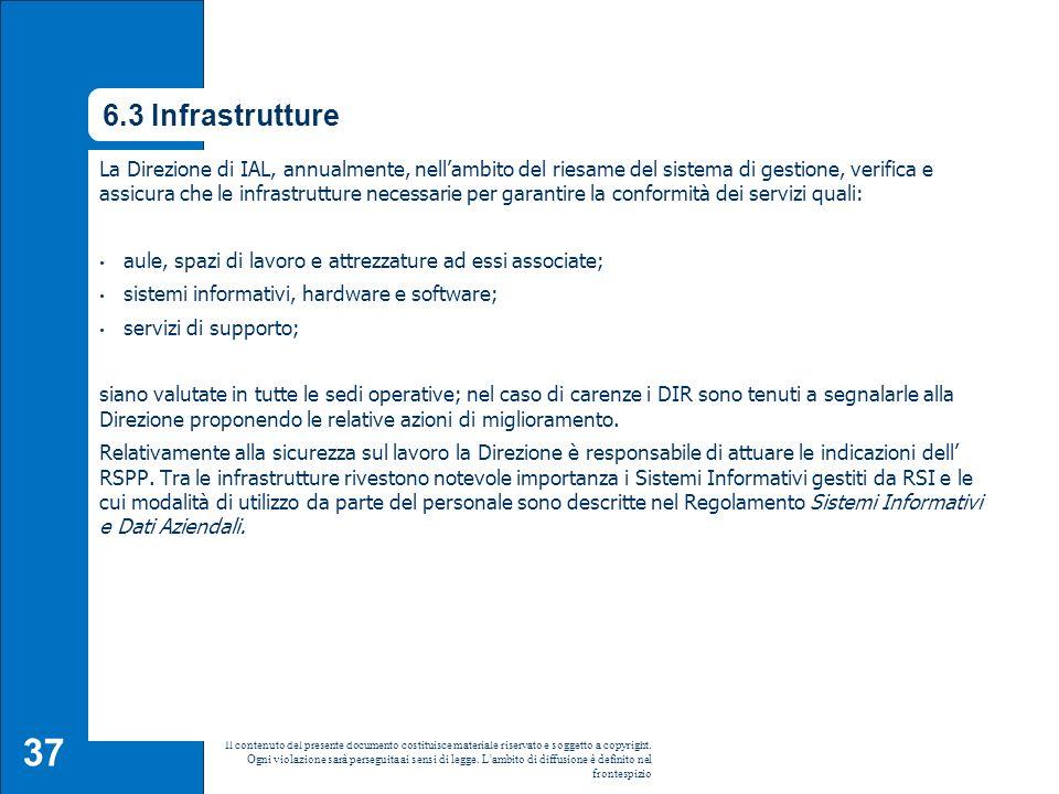 6.3 Infrastrutture