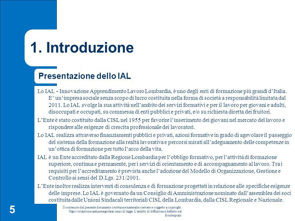 1. Introduzione Presentazione dello IAL