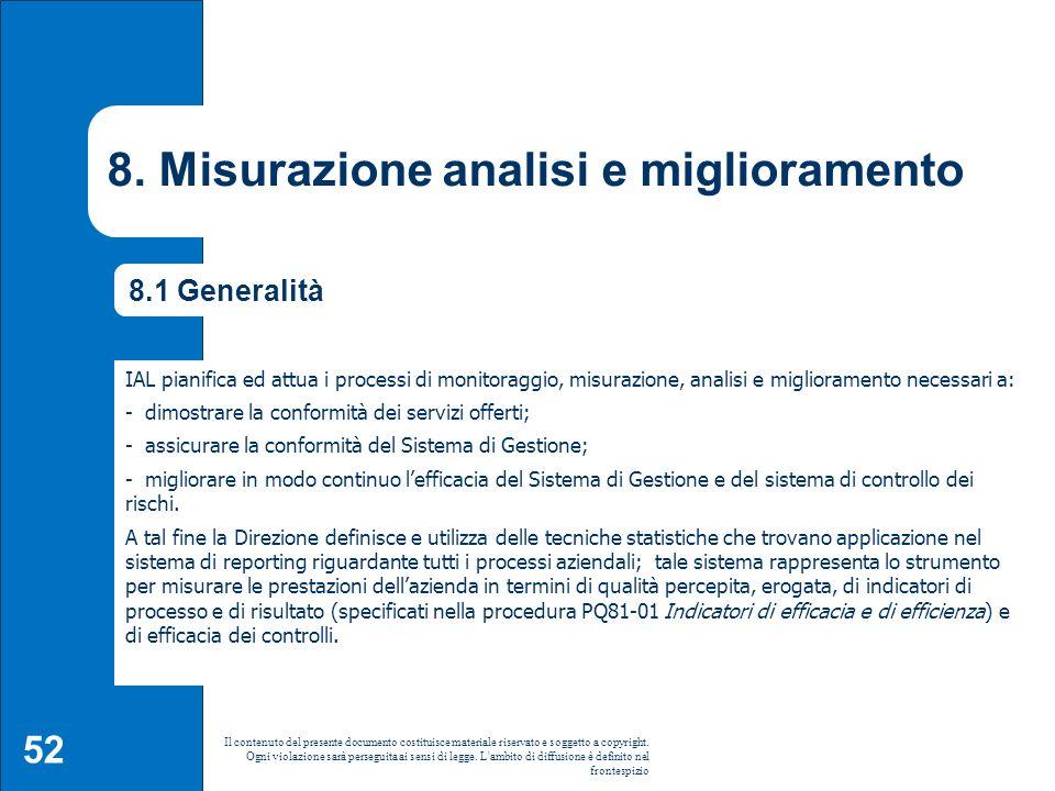 8. Misurazione analisi e miglioramento