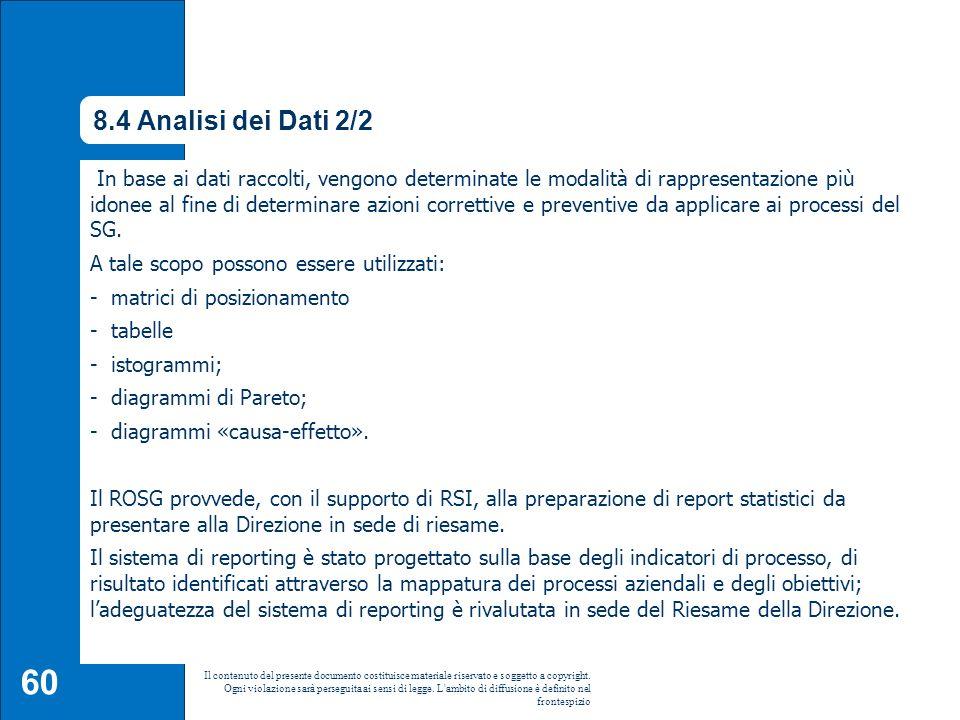 8.4 Analisi dei Dati 2/2 8.4 Analisi dei dati