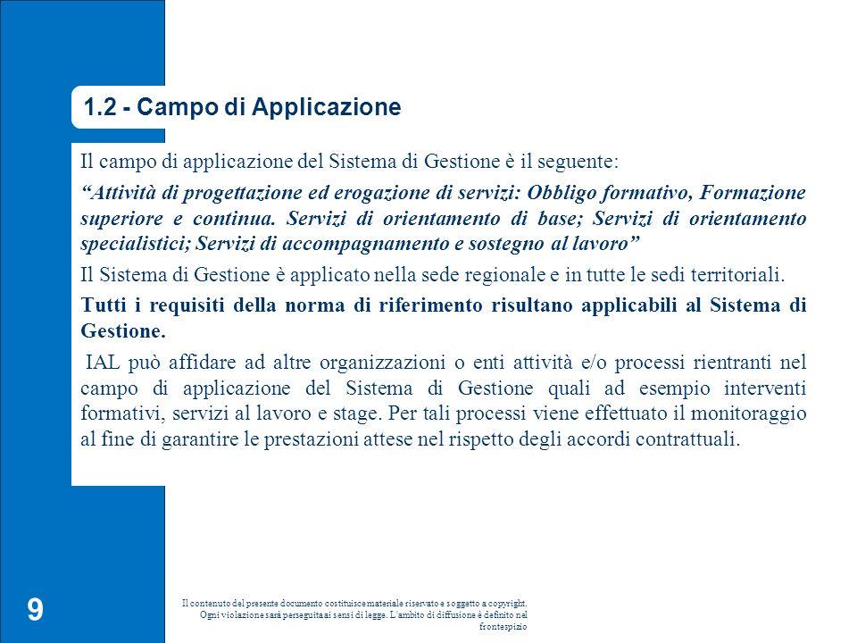 1.2 - Campo di Applicazione