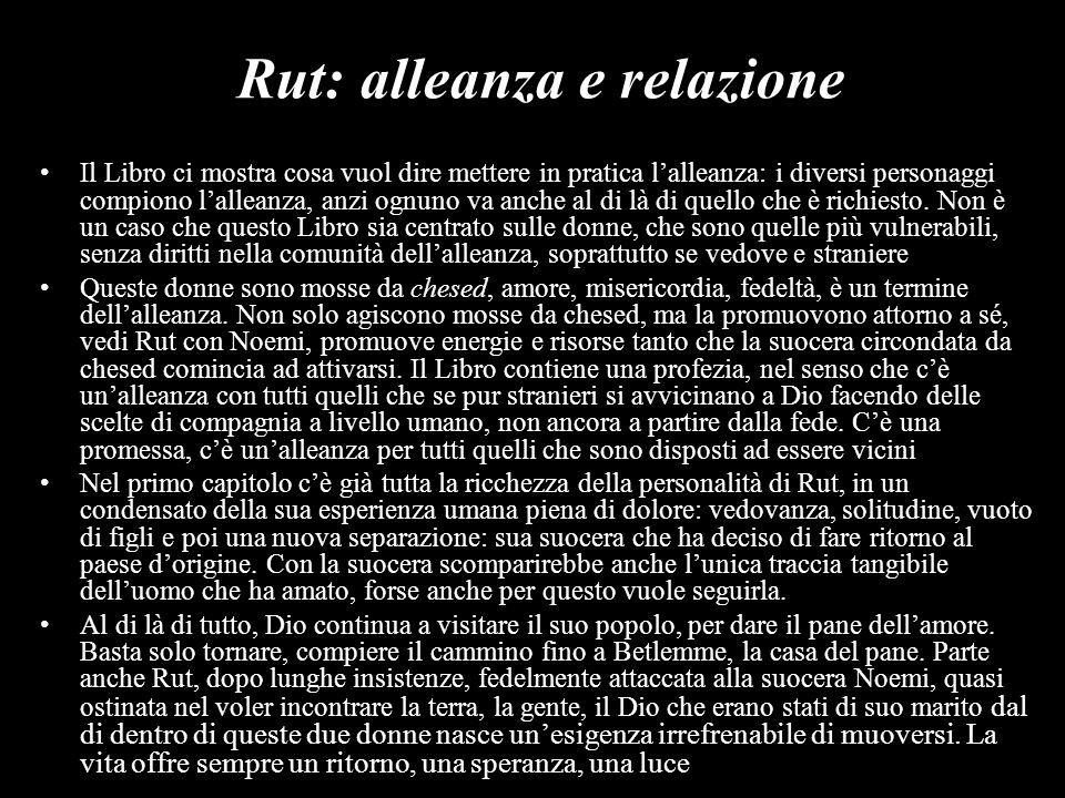 Rut: alleanza e relazione