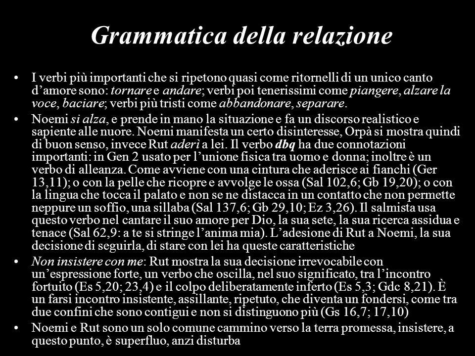 Grammatica della relazione