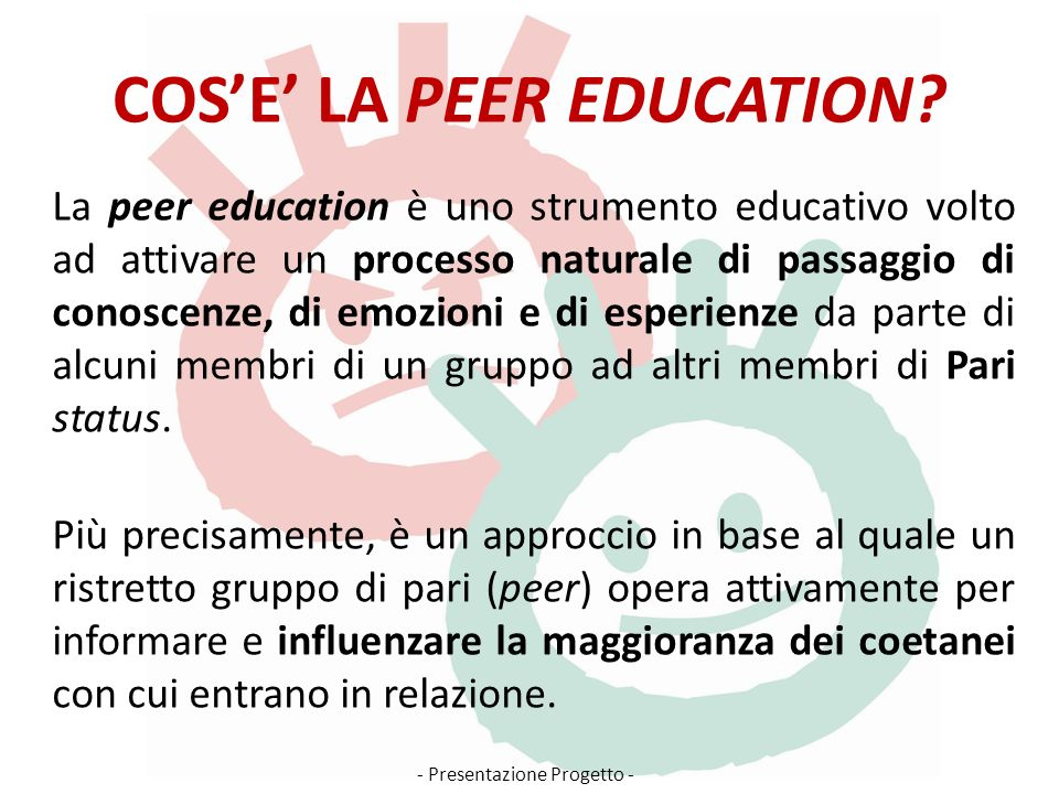 COS'E' LA PEER EDUCATION
