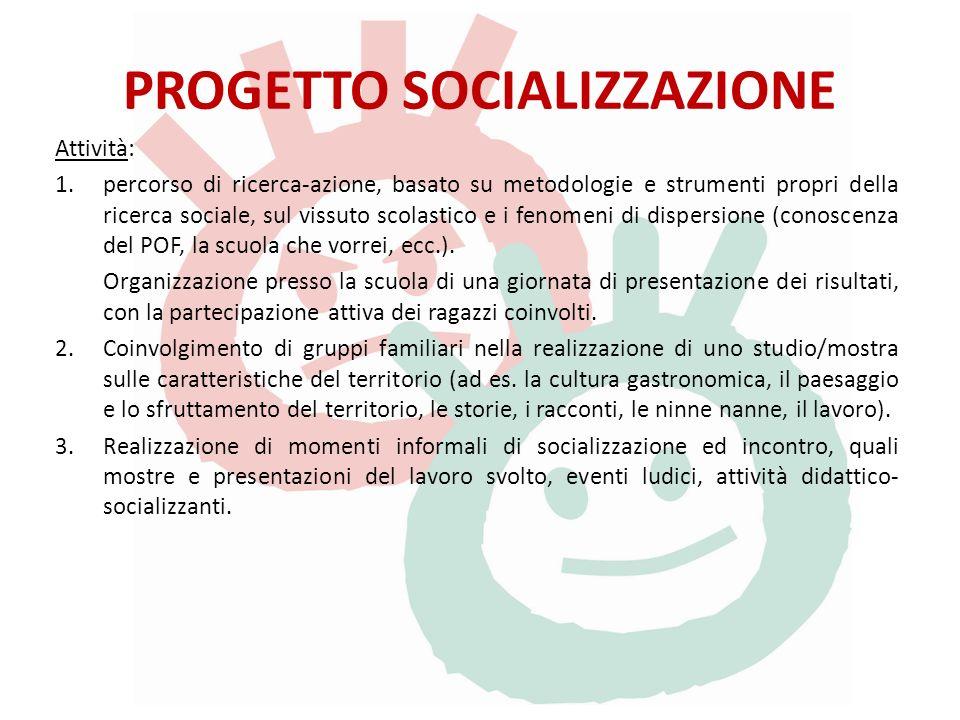 PROGETTO SOCIALIZZAZIONE