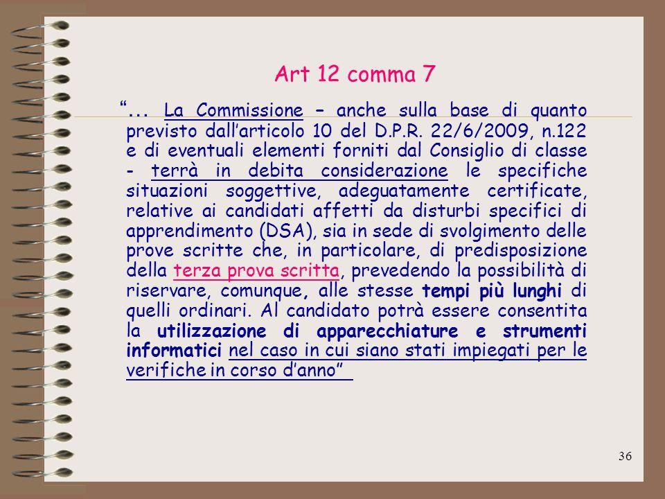 Art 12 comma 7