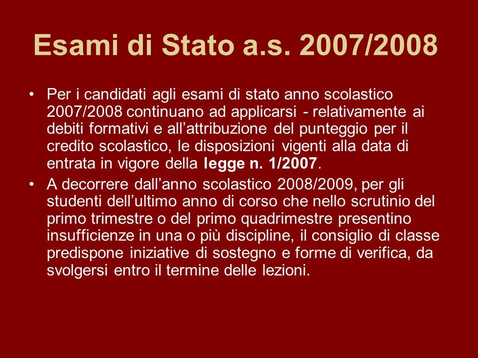 Esami di Stato a.s. 2007/2008