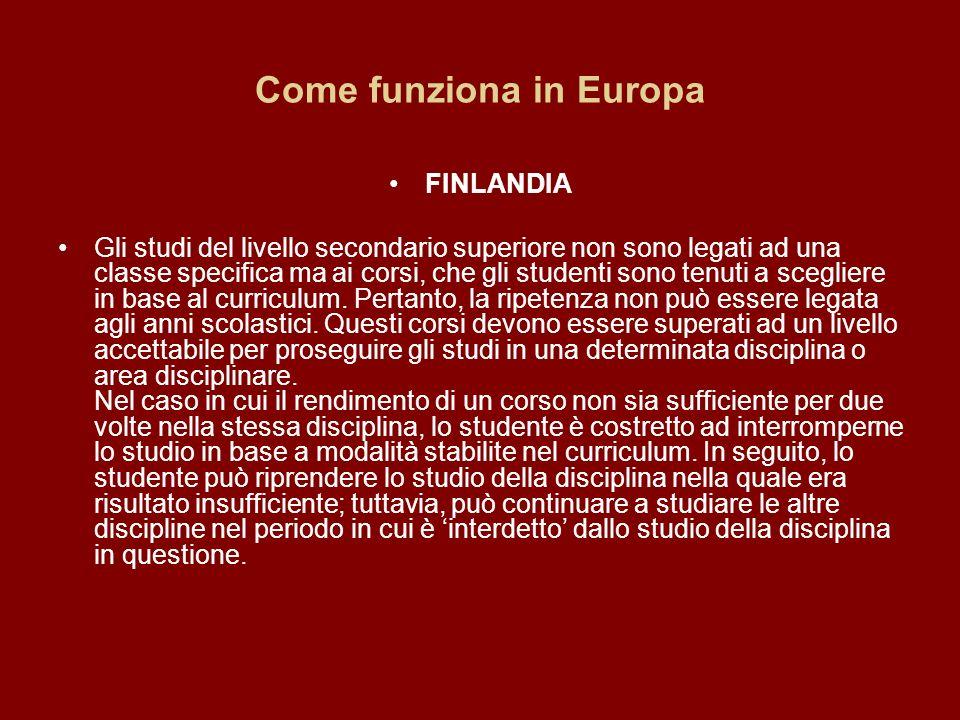 Come funziona in Europa