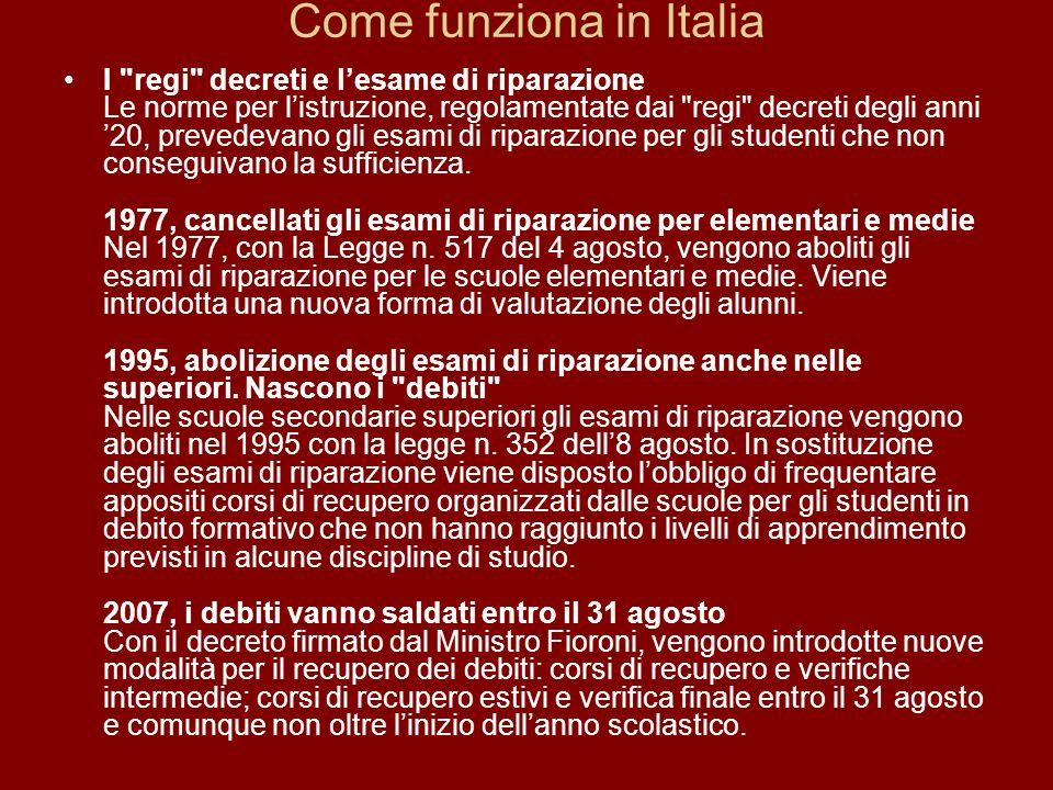 Come funziona in Italia
