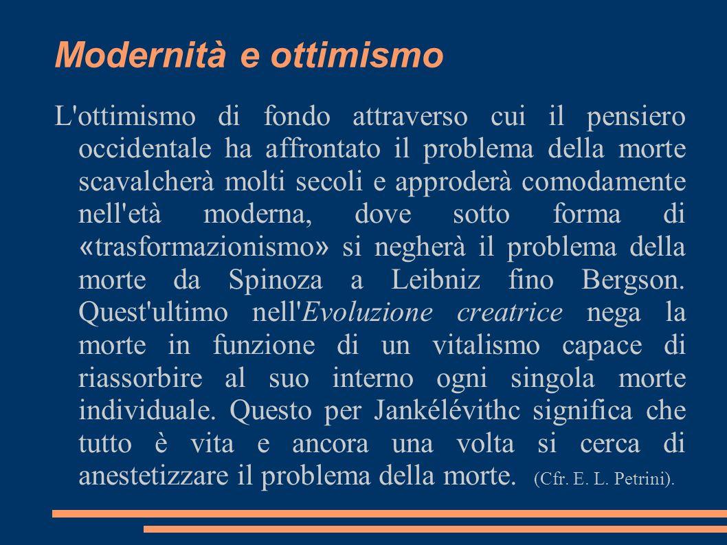 Modernità e ottimismo