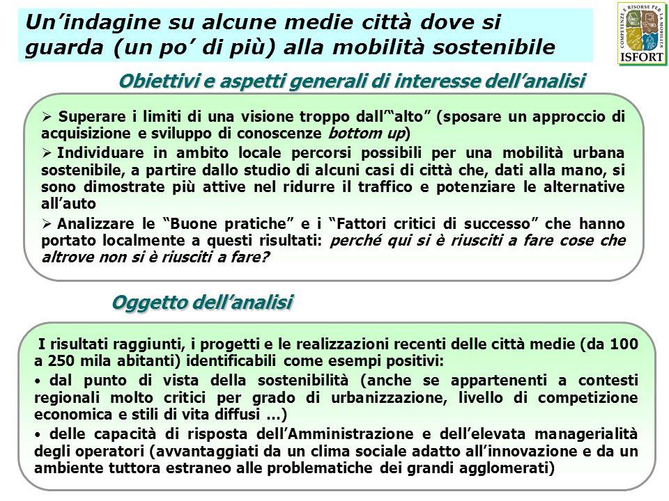 Obiettivi e aspetti generali di interesse dell'analisi