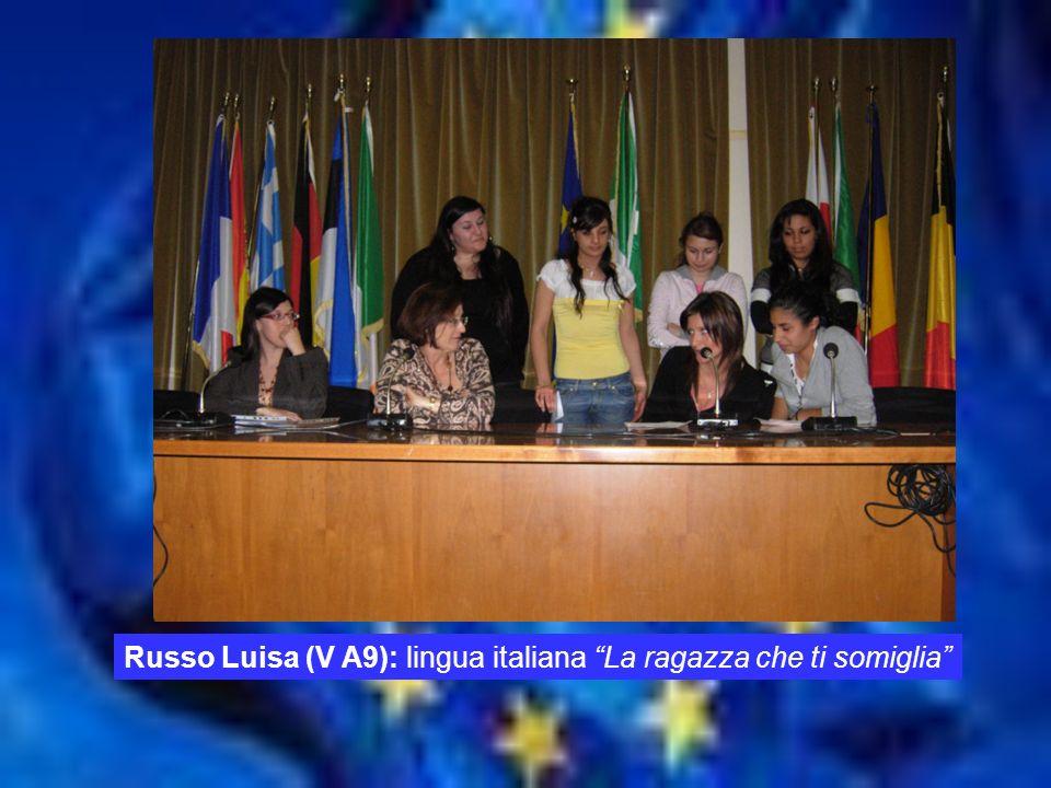 Russo Luisa (V A9): lingua italiana La ragazza che ti somiglia