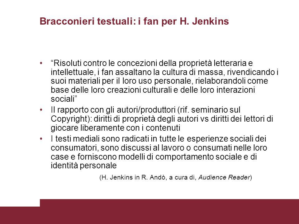Bracconieri testuali: i fan per H. Jenkins