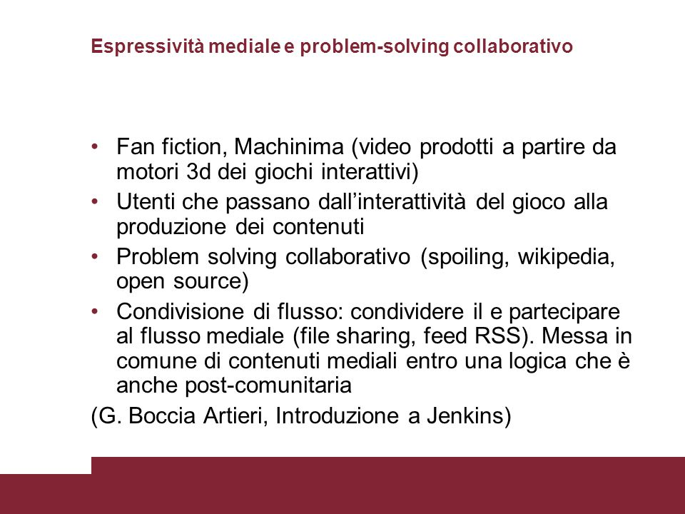 Espressività mediale e problem-solving collaborativo