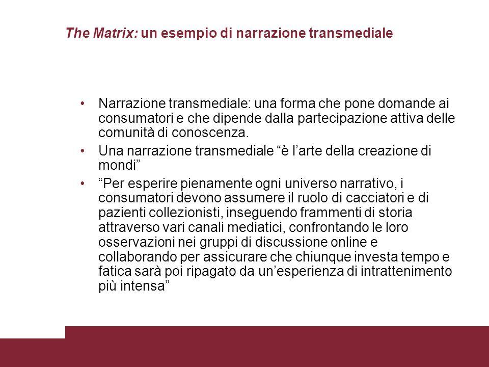 The Matrix: un esempio di narrazione transmediale