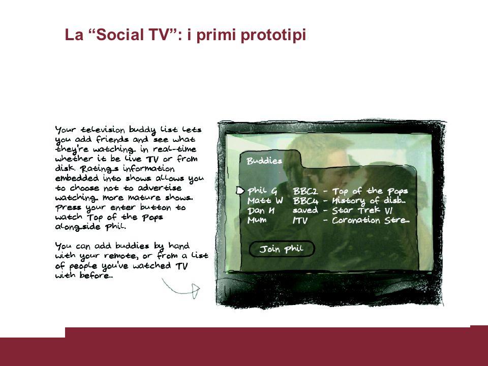 La Social TV : i primi prototipi