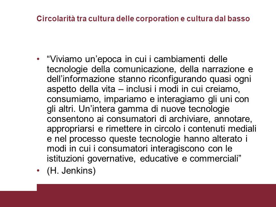 Circolarità tra cultura delle corporation e cultura dal basso