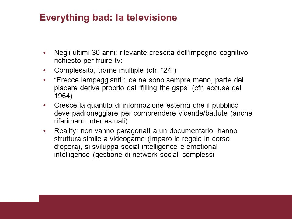 Everything bad: la televisione