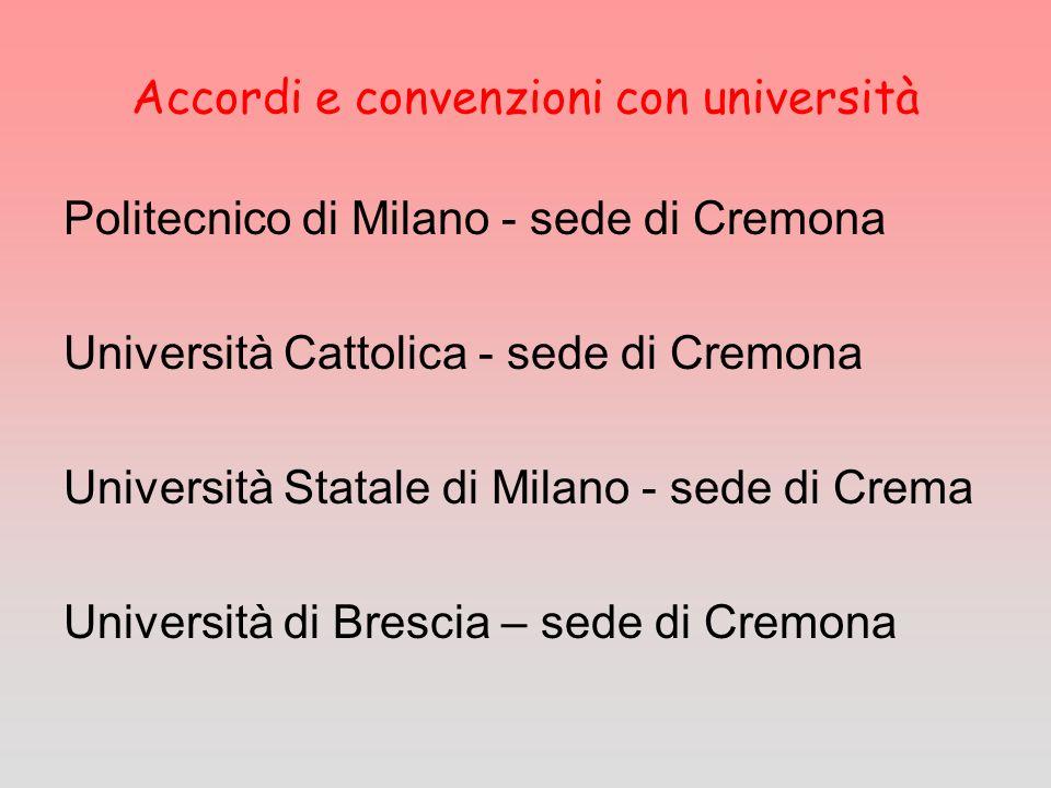 Accordi e convenzioni con università