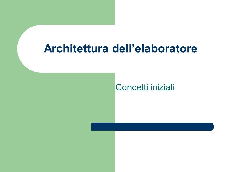 Architettura dell'elaboratore