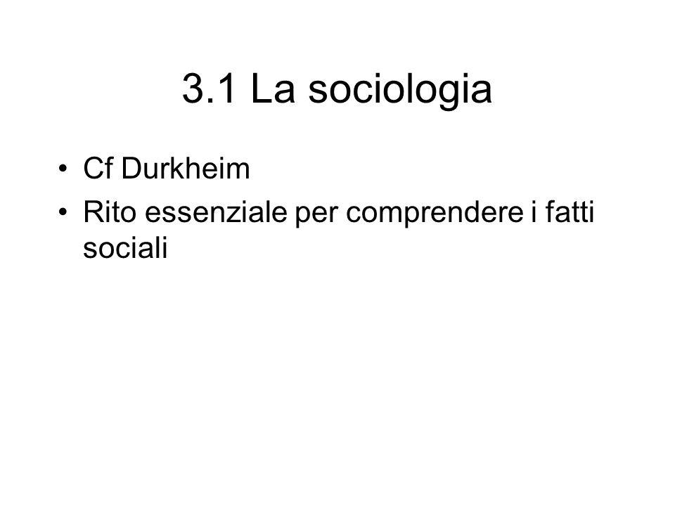 3.1 La sociologia Cf Durkheim