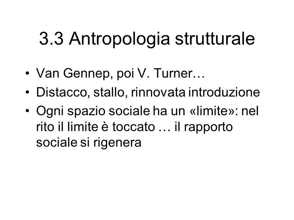 3.3 Antropologia strutturale