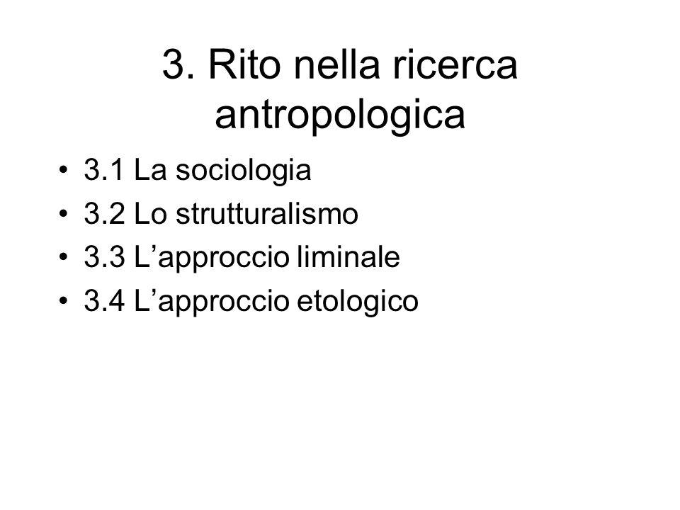 3. Rito nella ricerca antropologica