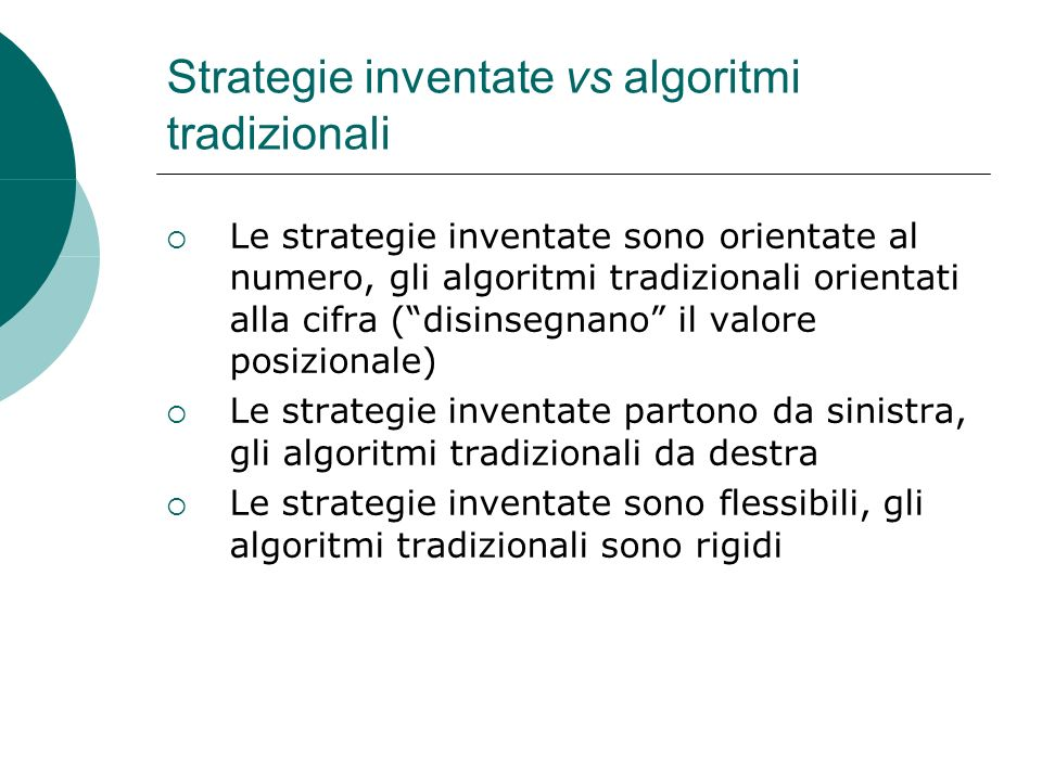 Strategie inventate vs algoritmi tradizionali