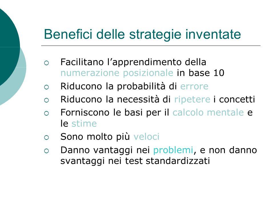 Benefici delle strategie inventate