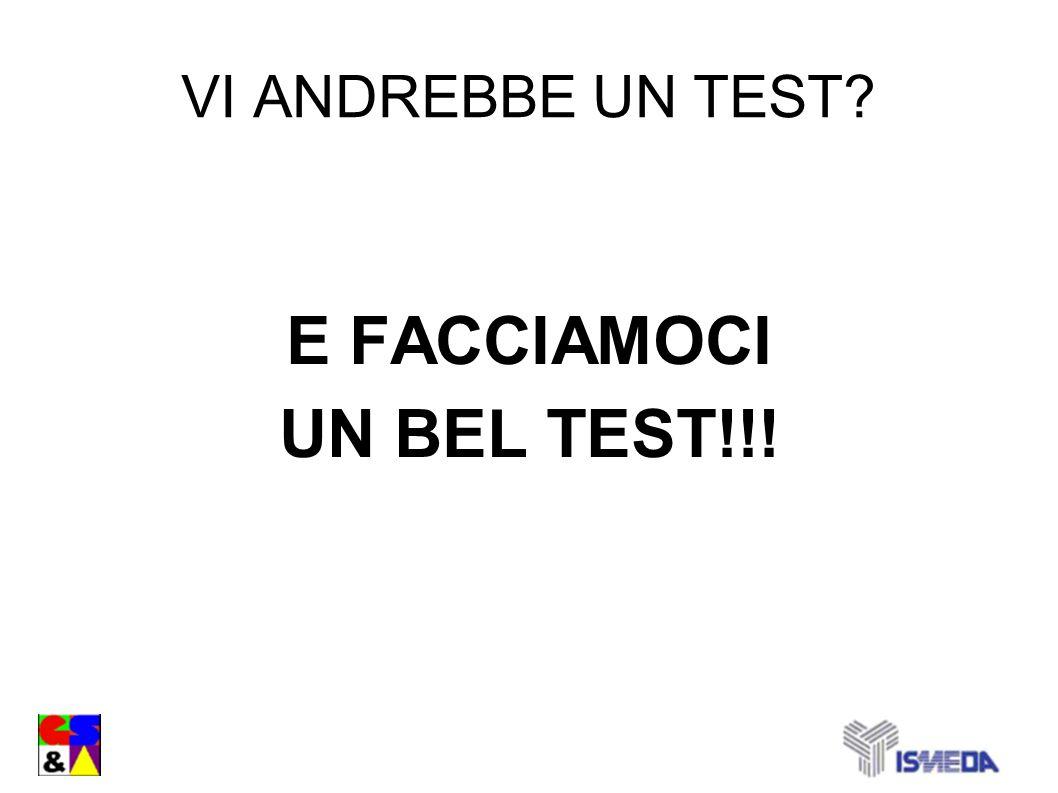 E FACCIAMOCI UN BEL TEST!!!