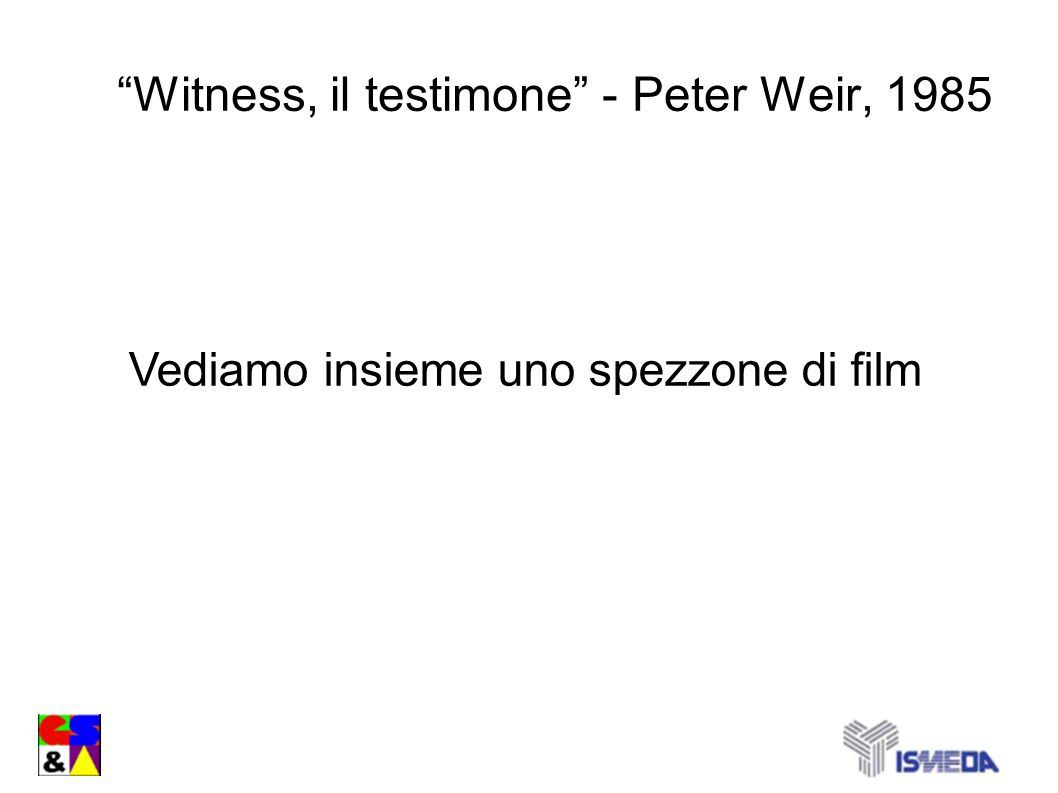 Witness, il testimone - Peter Weir, 1985