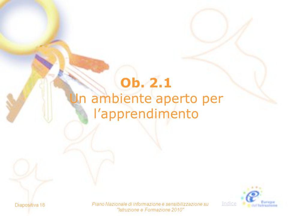 Ob. 2.1 Un ambiente aperto per l'apprendimento