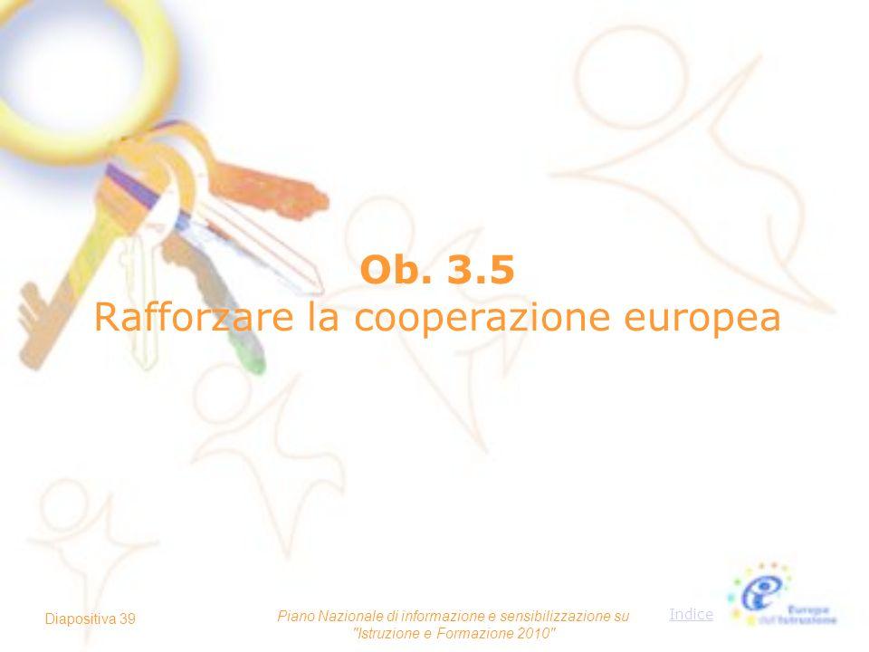 Ob. 3.5 Rafforzare la cooperazione europea