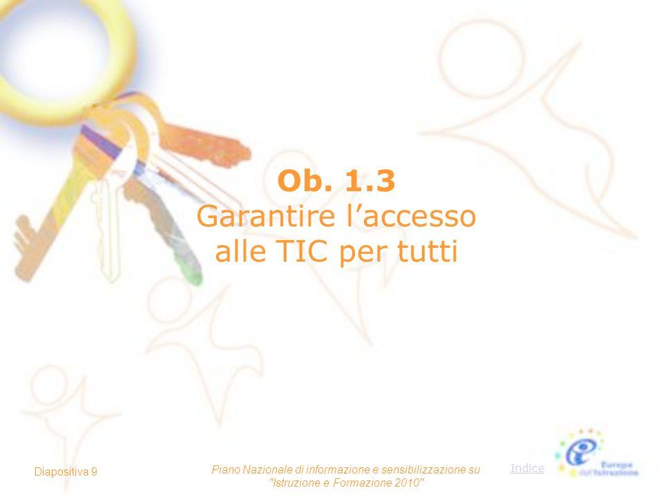 Ob. 1.3 Garantire l'accesso alle TIC per tutti