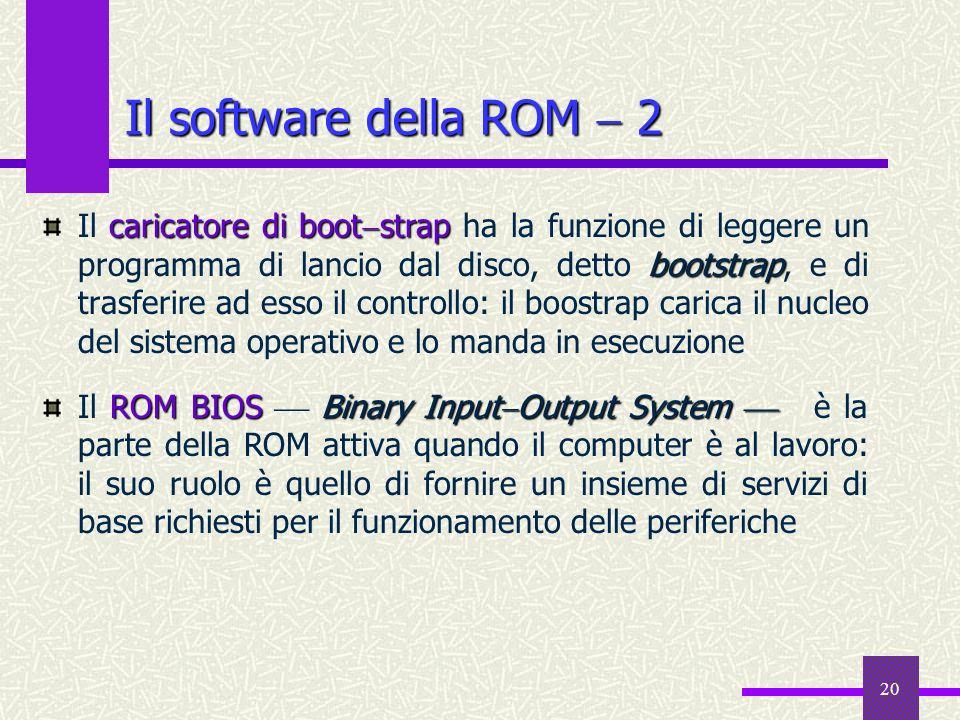 Il software della ROM  2
