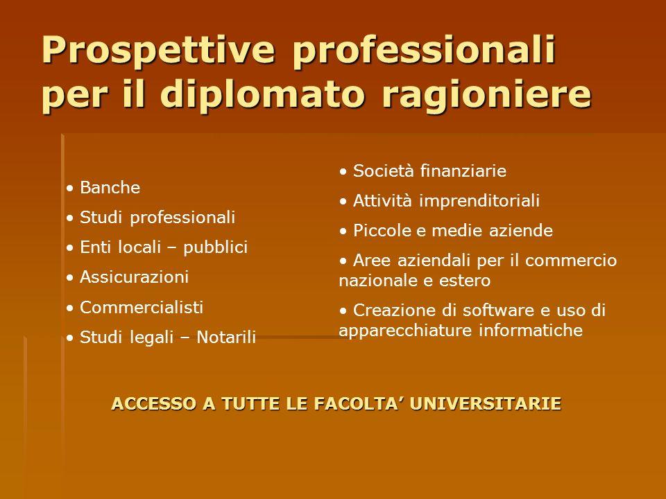 Prospettive professionali per il diplomato ragioniere