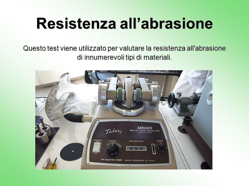 Resistenza all'abrasione