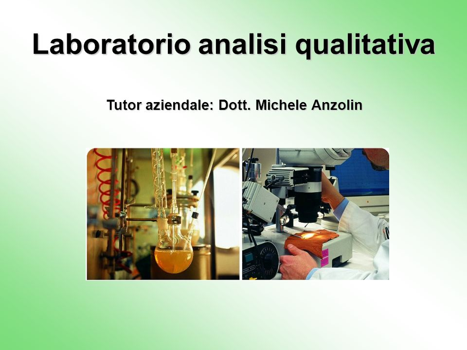 Laboratorio analisi qualitativa